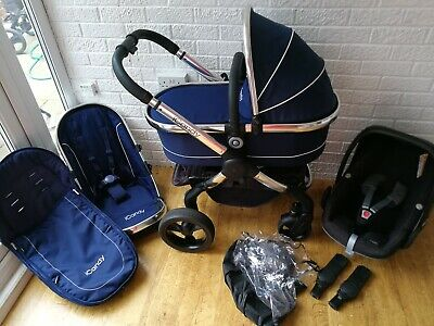ICandy Peach 3 Royal Blue Pram Travel System With Maxi Cosi Car Seat 3 In 1 • 389£
