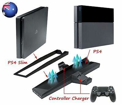AU22.99 • Buy PS4 Cooling Station Vertical Stand Controller Charging Dock For PlayStation 4 S