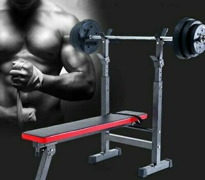 Folding Flat Weight Lifting Bench Workout Exercise Machine Home Fitness Gym • 199.99£