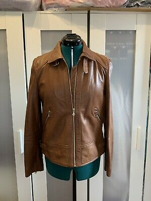 AU200 • Buy Massimo Dutti - Tan Leather Jacket - Size M