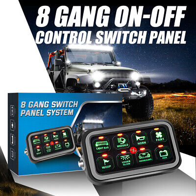 AU159.59 • Buy AUXBEAM 12V 24V 8 Gang LED Touch Screen Switch Control Panel For Jeep Truck ATV