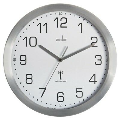 £29.95 • Buy Acctim  Mason Radio Controlled Wall Clock, Silver Great For Office Clocks