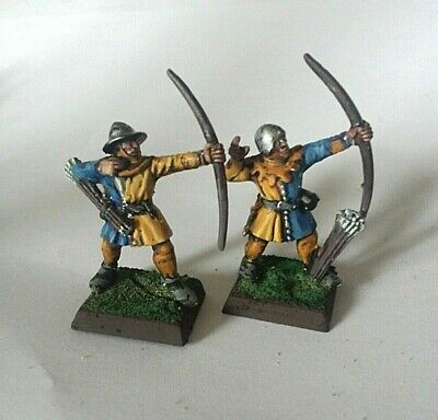 2 Painted Plastic Whfb 5th Ed Bretonnian Archers • 2.20£