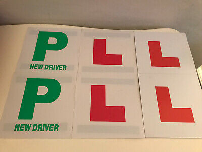 """4 Learner """"L"""" Plates, 2 New Driver """"P"""" Plates Magnetic Brand New Never Used • 1£"""