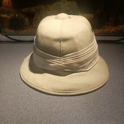 Vintage African Pith Helmet  Sun Shade  Made In Bulawayo Size 56 • 4.99£