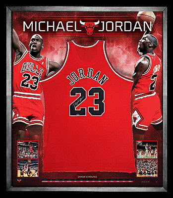AU3995 • Buy Michael Jordan Signed And Framed Jersey Memorabilia Chicago Bulls Mvp Frame