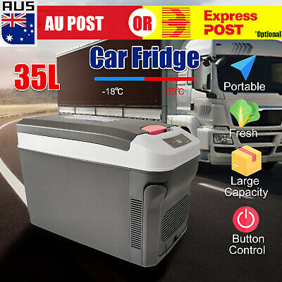AU186.99 • Buy 35L Portable Camping Fridge Car Boat Caravan Home Cooler Warmer Refrigerator Z
