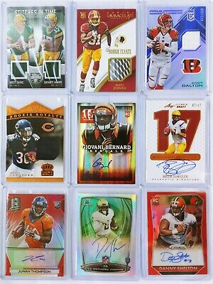 $ CDN127.05 • Buy Huge Lot 100 Football Cards RC Rookie Autograph Auto Jersey Patch Flawless #d 1