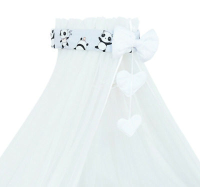 £19.99 • Buy Baby Drape Canopy Mosquito Net With Ribbon ONLY Fits Crib/Cradle Little Panda