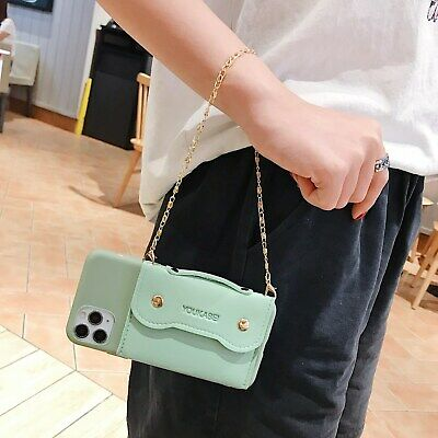 AU8.96 • Buy For Various Phones Hot Fashion Women Girl Handbag Chain Wallet Purse Case Cover