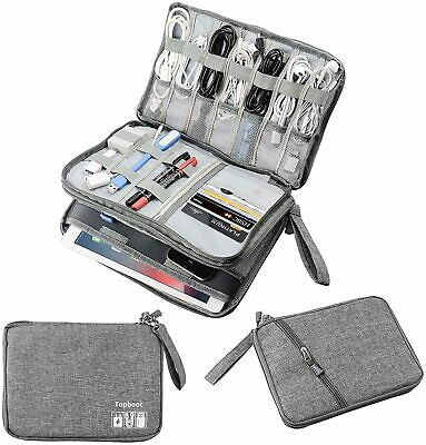 AU29.95 • Buy Double Layer Electronic Accessories Organizer, Travel Gadget Bag