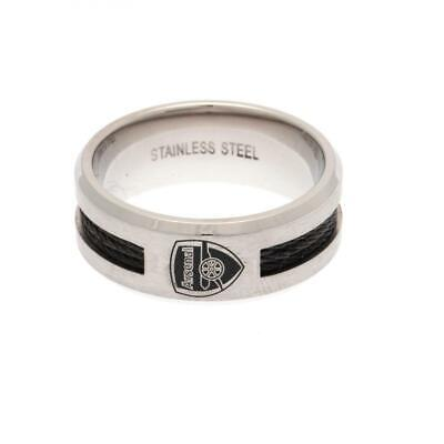 £20 • Buy Arsenal FC Stainless Steel Crest Black Inlay Ring Size R