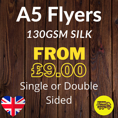 £15.71 • Buy A5 Flyers Full Colour Single Or Double Sided 130gsm Silk - 148mm X 210mm