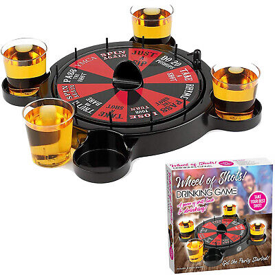 Russian Roulette Drinking Set Shots Game Casino Spin Adult Party Spinner Fun • 14.95£