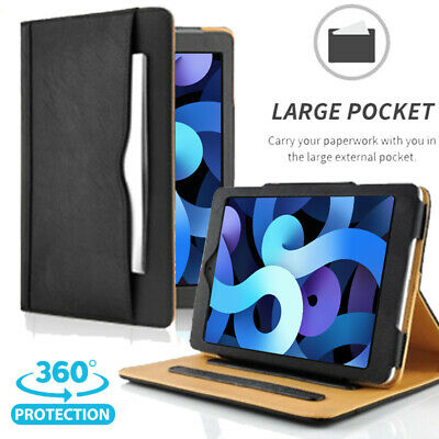 AU36.09 • Buy Fits 2020 IPad Air 4th Gen 10.9-inch Leather Case With Built-in Pencil Holder