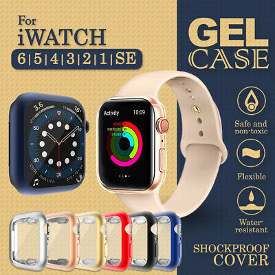AU8.99 • Buy For Apple Watch IWatch Series SE 6 5 4 3 2 1 Case Soft Full Cover 44 38 40 42 Mm