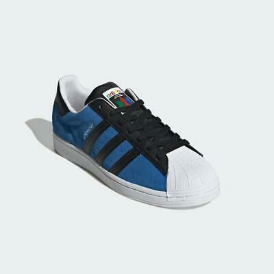 $ CDN112.25 • Buy Adidas Originals Superstar Shoes Trainers Blue Black 100% Authentic