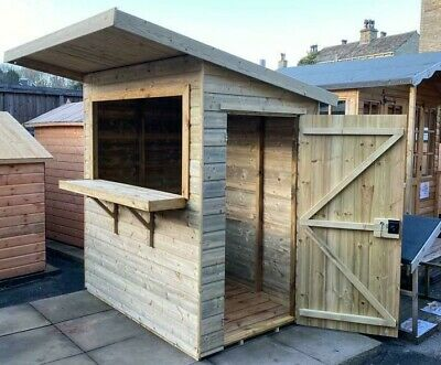 £799 • Buy Quality Wooden Outdoor Bar Garden Pub Party Hut Fully T&G Shed And Lockable 6x4