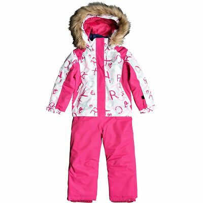 £95.50 • Buy Roxy Child's Paradise Ski Suit Overall Pink / White Age 6/7