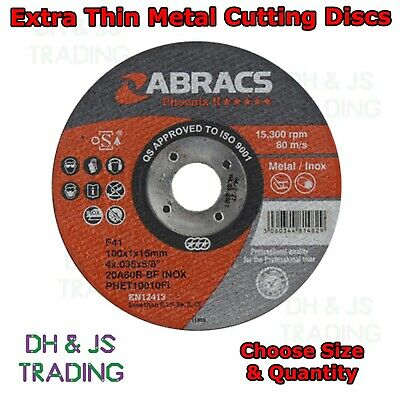 £5.95 • Buy Extra Thin Metal Cutting Discs 1mm For Stainless Steel Angle Grinder Disc
