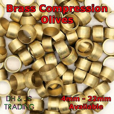 £1.99 • Buy Brass Compression Olives - Barrel Plumbing Tube Pipe Olive Metric & Imperial