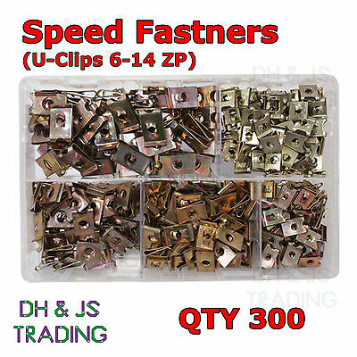 £18.99 • Buy Assorted Box Of Speed / Spire Fasteners U - Clips 6 - 14 ZP Qty 300