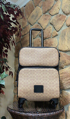COACH Academy Travel Wheeled Carry On In Signature Canvas #A1961-69368 • 1,072.88£