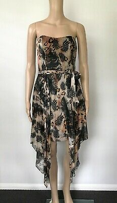 AU20 • Buy Stunning Forever New Silk Strapless Dress - Size 10