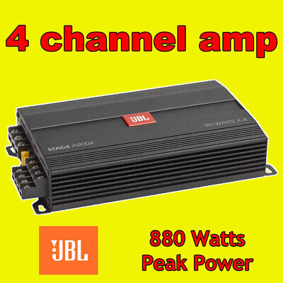 £161.95 • Buy Jbl Car Amp Amplifer 4 Four Multi Channel 880w Max Power, Built In Crossovers