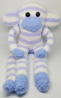 £6.50 • Buy Sock Monkey Bobby Mothers Day Gift Hand Made Soft Toy Blue And White Stripe