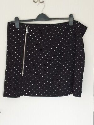 George  Black & White Polka Dot Mini Skirt  Size 20 • 4£