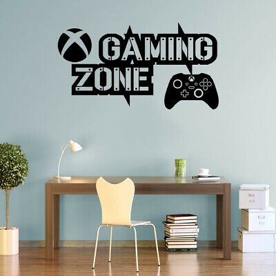 £17.50 • Buy Gaming Zone Wall Stickers Xbox Series Controller Gamer Vinyl Decals KidsRoom X-S