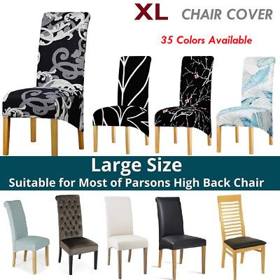 AU9.99 • Buy Large Size Dining Chair Cover XL Seat Slipcover Banquet Wedding Party 1/4/6Pcs