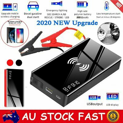 AU59.99 • Buy 99900mah Portable Car Jump Starter Wireless Charger Power Bank Battery Engine AU