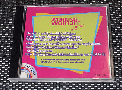 $14.99 • Buy Mattel Working Woman Barbie Doll CD For PC Windows Mac Complete Manual 1999