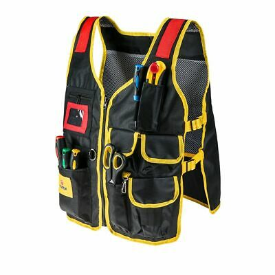 £15.95 • Buy Topex Electrician's Plumber's Fitter's Tool Vest - 7 Pockets
