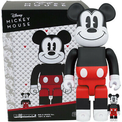 $149.95 • Buy Medicom Toy Be@rbrick Bearbrick Mickey Mouse 2020 Red & White Ver. 100% & 400%
