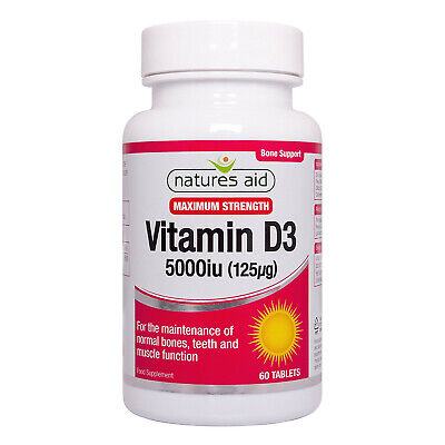 £8.89 • Buy Natures Aid Vitamin D3 5000iu High Strength - 60 Tablets