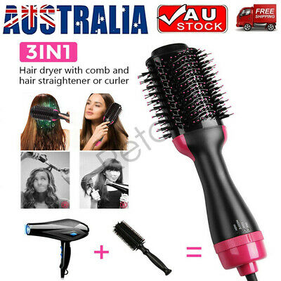 AU38.88 • Buy 4 In 1 One-Step Hair Dryer Comb And Volumizer Pro Brush Straightener Curler