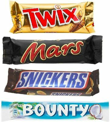 Mars Chocolate Selection 6x(Mars, Twix, Bounty, Snickers) SHORT DATED FEB 21 • 6.99£