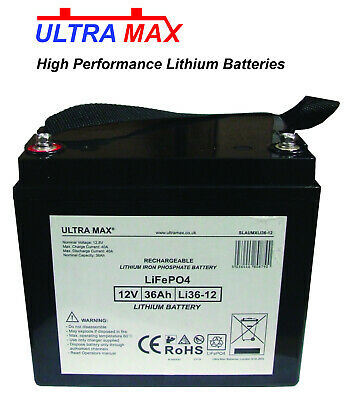 £183.71 • Buy Power Cell PC12340 12V 36Ah Emergency Light Replacement LITHIUM LiFePO4 Battery