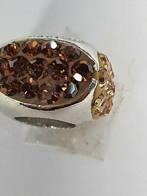 £9 • Buy Amore & Baci  Rusty Red Tones Cubic Swarovski Bead Sterling Silver C1