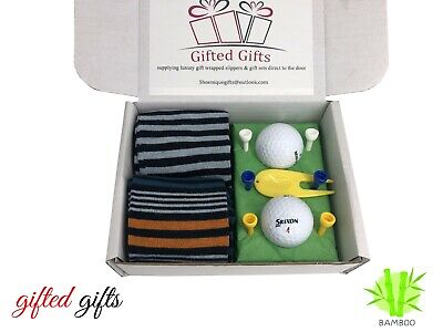 £8.95 • Buy Golf Gift Sets Socks Balls Tee's Ideal Presents, Birthdays Fathers Day Society's