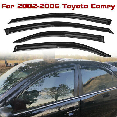 $25.99 • Buy For Toyota Camry 2002-2006 Window Vent Visors Rain Guards Sun Shades Deflectors