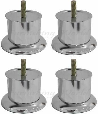 £8.99 • Buy 4 X Strong Metal Replacement Uk Furniture Legs Sofa Chair Cabinet Bed Stool