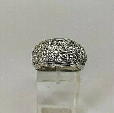 £299.99 • Buy 9ct White Gold Hallmarked 1ct Diamond Dome Cluster Ring Size P
