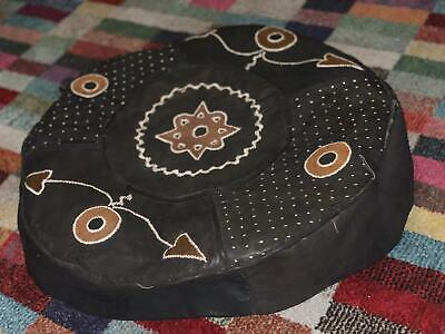 £60 • Buy Hand Stitched African Leather Pouf - Unstuffed