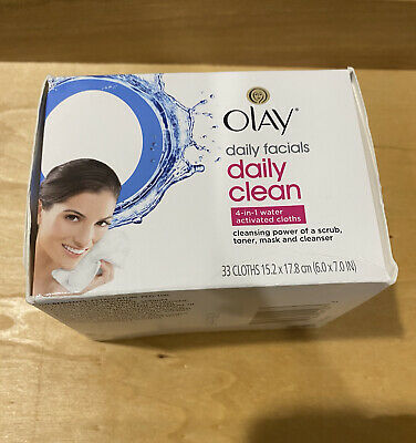 AU12.86 • Buy Olay Daily Facials Hydrating Cleansing Cloths - 33ct