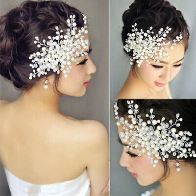 $ CDN4.39 • Buy Women Pearl Hair Comb Jewelry Bride Wedding Bridal Headwear Hair Accessories