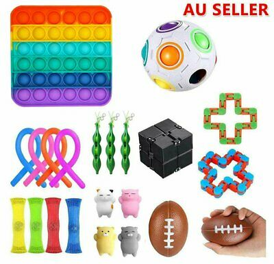 AU12.88 • Buy 22 Pcs Fidget Toys Set Sensory Tools Bubble  Pop It Stress Relief Hand Popping